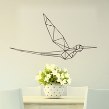 Geometric Bird Wall Stickers Vinyl Art On Decorative Removable Animals Decals