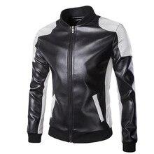 New Motorcycle Jackets Men Vintage Retro PU Leather Jacket Punk Windproof Biker Classical Stand Collar Slim Moto Jacket