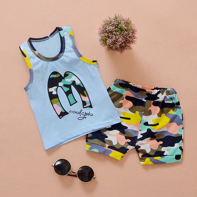 7bcb2178d Children wit baby suit summer new cotton High quality army ...