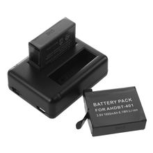 2 x AHDBT-401 401 Decoded Battery + USB Charger For GoPro Hero 4 Go Pro 4 New