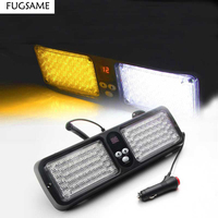 FUGSAME Red Blue 86 LED Strobe Flash Lamp / Car Sun visor flashing light / car strobe light