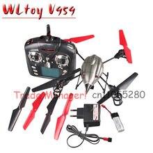 Wl v959 квадрокоптер встроенный HD камера 2,4 G 4CH беспилотный бпла противоракетной вертолет подарок для дети поддержка