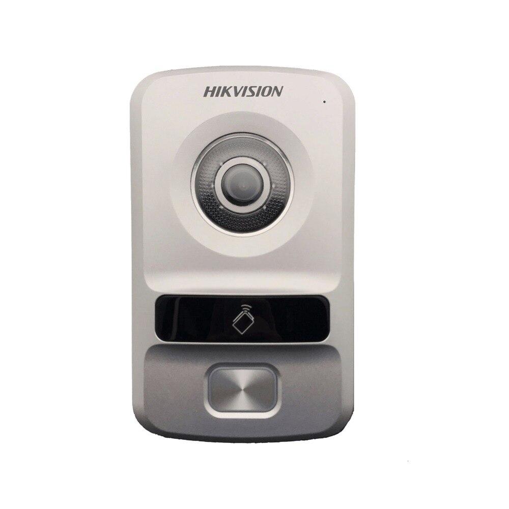 Hikvision HD villa tipo DS-KV8102-IP, WDR macchina fotografica, HD citofono Visivo campanello impermeabile, carta di CI, IP interfono via cavo