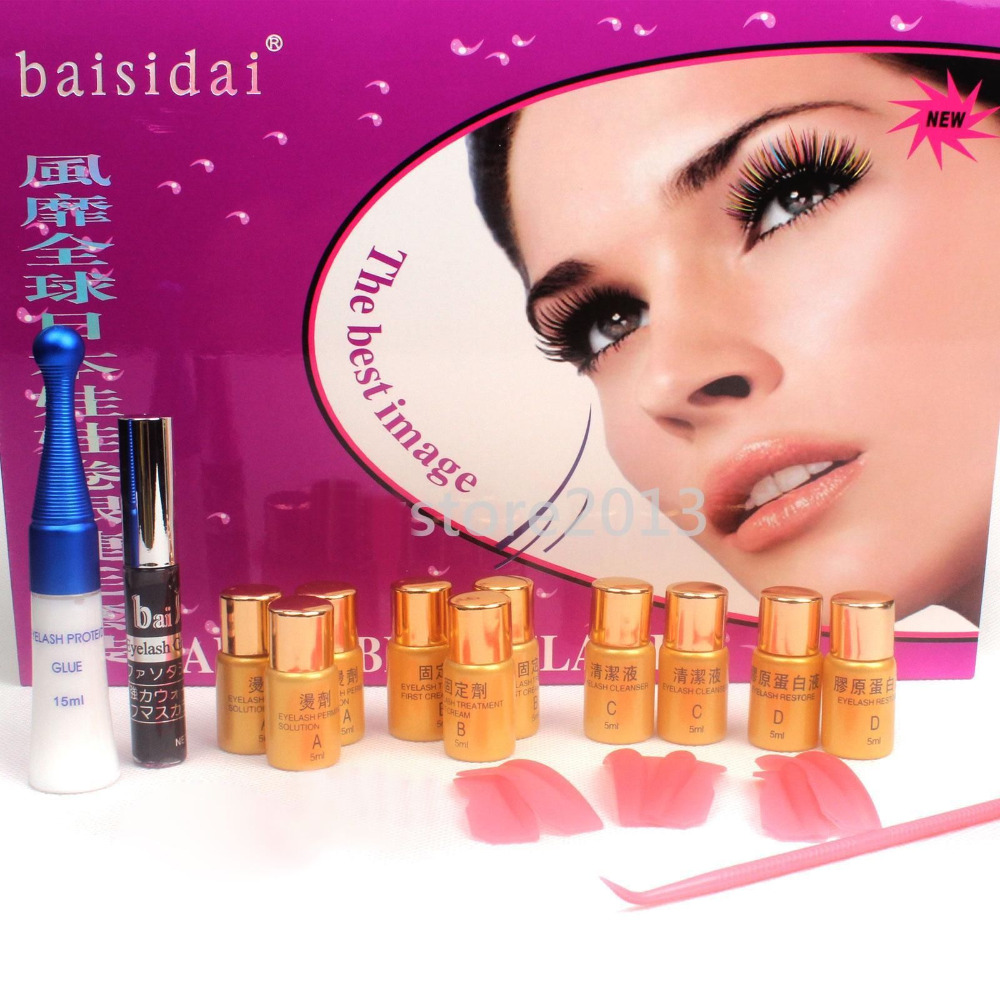Straight perm solution - Baisidai 8in1 Extra Longer Curling Eyelash Lashes Perm Perming Solution Full Kit Set B26 China