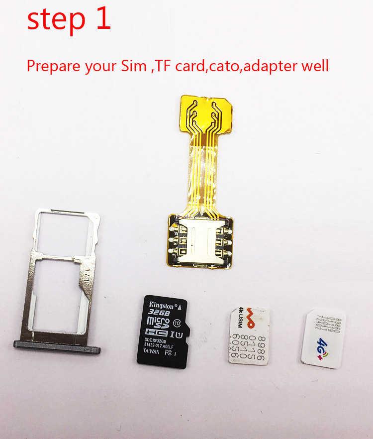 Double carte SIM hybride Double adaptateur Micro SD pour Android Extender 2 Nano adaptateur Micro SIM pour XIAOMI REDMI NOTE 3 4 3s PRO Max