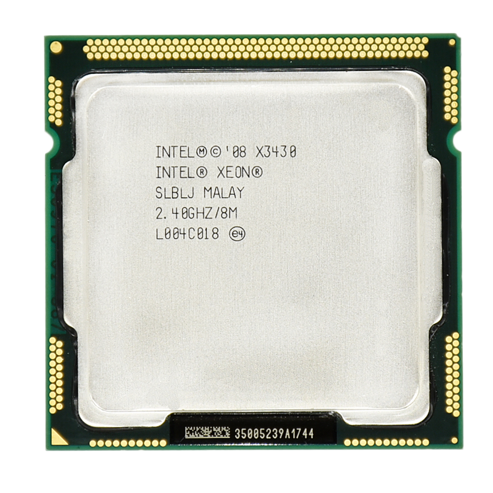 Intel Xeon X3430 8M Cache Quad Core 2.40GHz 95W LGA 1156 Desktop CPU 100% Working Desktop Processor