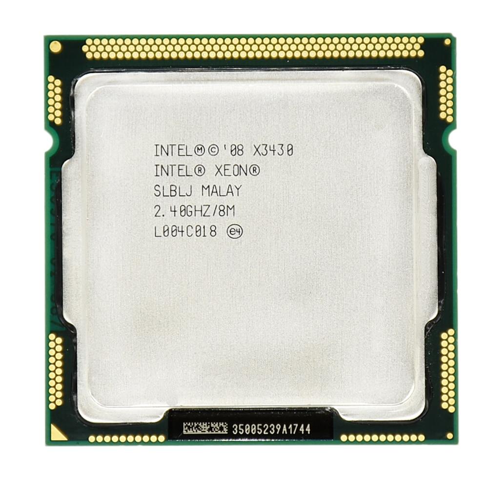 Intel Xeon X3430 8M Cache Quad Core 2.40GHz 95W LGA 1156 Desktop CPU 100% working Desktop Processor