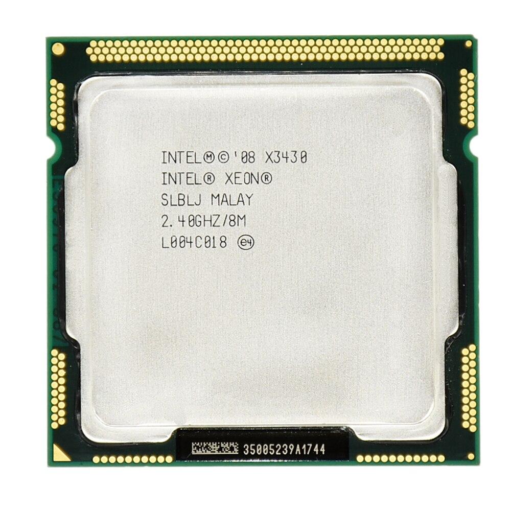 Intel xeon X3430 pamięć podręczna 8M czterordzeniowy procesor biurkowy 2.40GHz 95W LGA 1156 100% działający procesor biurkowy