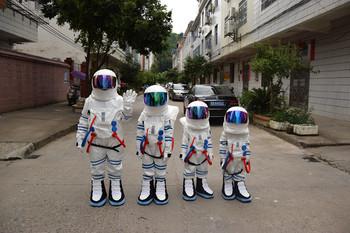 2017 gorąca wyprzedaż! Wysokiej jakości kostium dla dzieci i dorosłych kostium maskotka astronauta kostium maskotka z plecakiem z rękawicą z LOGO sh tanie i dobre opinie kostiumy Dla osób dorosłych TTANGBO knight Unisex