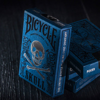 1pcs Original Bicycle Cards Luxury Skull Playing Cards Magic Tricks By BOCOPO Playing Card Tricks Poker