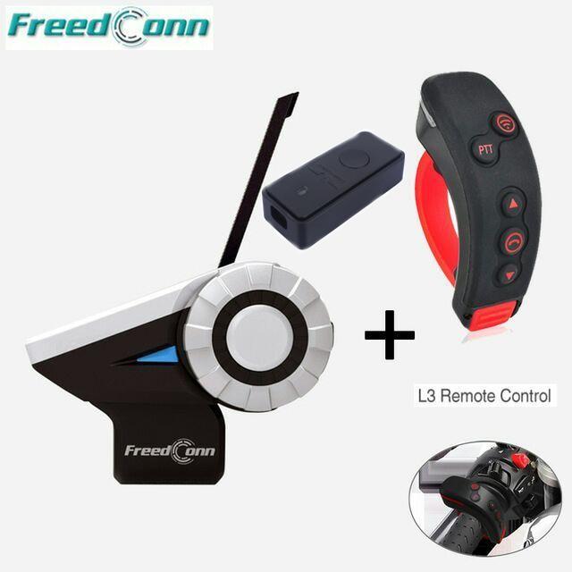 2pcsT-Rex+1pcL3+1pcL2 1500M 8-Way Full Duplex 8 Riders Bluetooth Helmet Intercom Headset Remote Control FM Radio MP3 GPS Call