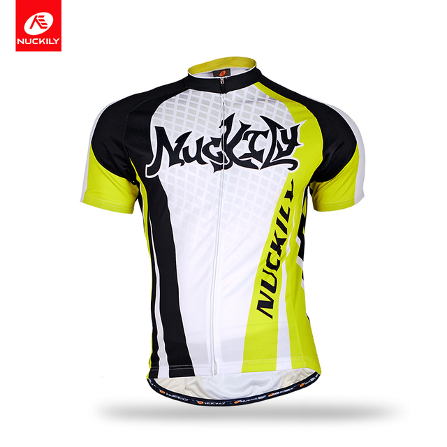 NUCKILY Short Sleeve Bike Clothing Summer Cycling Jersey Sublimation Print  Breathable Bicycle Apperal For Men MA007 6fccaabe9