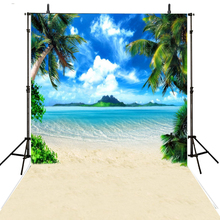 купить Sea Beach Photography Backdrops Vinyl Backdrop For Photography Hawaii Wedding Background For Photo Studio Foto Achtergrond дешево