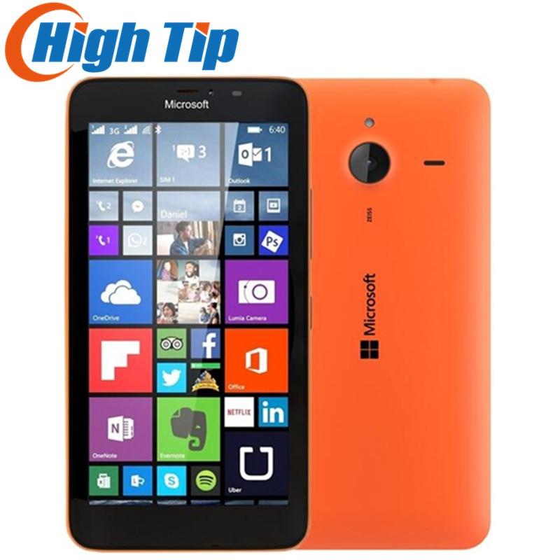 Nokia D'origine Microsoft Lumia 640XL Quad-core 8 gb ROM mobile téléphone 4g WIFI GPS 13MP 1080 p caméra Rénové téléphone portable