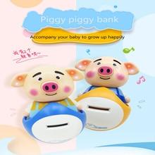 Piggy tumbler toy piggy bank Lucky cute piggy Music Money Saving Box Kids Gift кружка ppd lucky piggy 350 мл