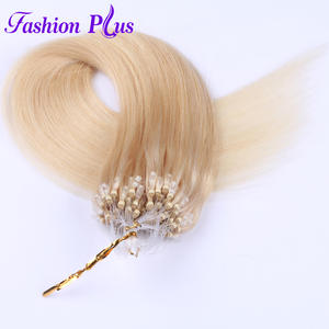 Fashion Plus Micro Ring Hair Extensions 613 Micro Bead Remy Human Hair Extensions Micro Loop Hair Extensions 1gs 100g 18''-24''