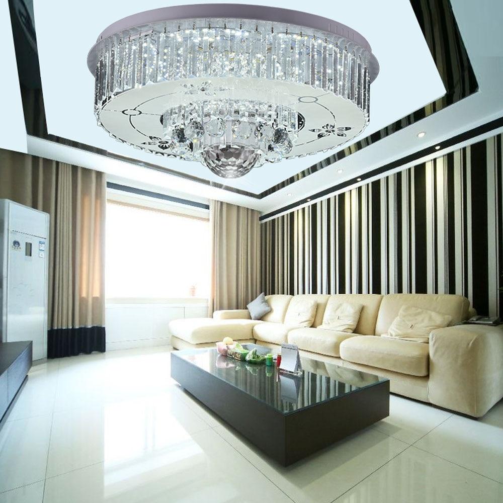 HGHomeart LED Crystal Ceiling Light Lustre Luminaire Bluetooth ...