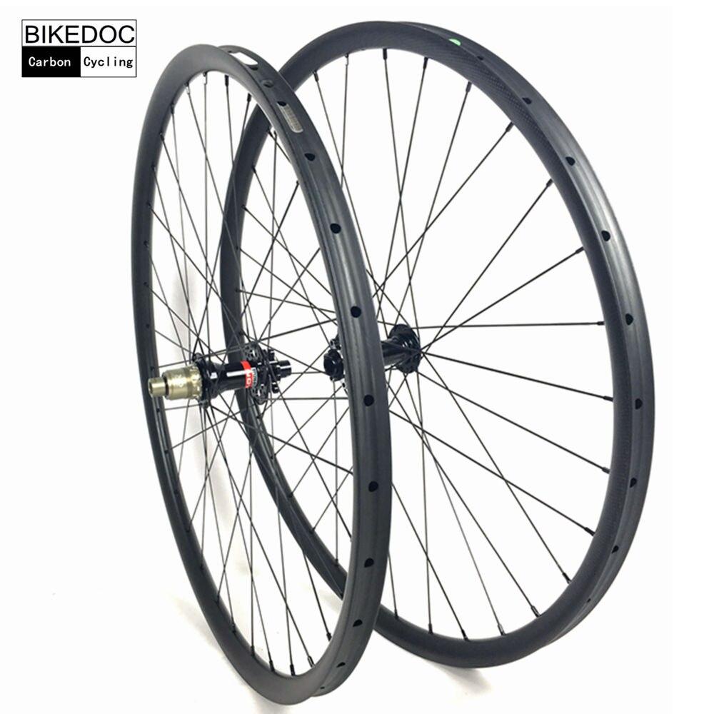 BIKEDOC 27mm*23mm Carbon Mtb Wheels 27.5er(650b) And 29er Carbon Wheels Tubular Mtb Bicycle Wheel iplay 29er carbon mtb wheels hooklesss