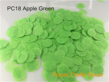 1inch=2.5cm 30g/bag Apple Green Round Tissue Paper Wedding Confetti Party Table Decorations Throwing Supplies Balloon Kit