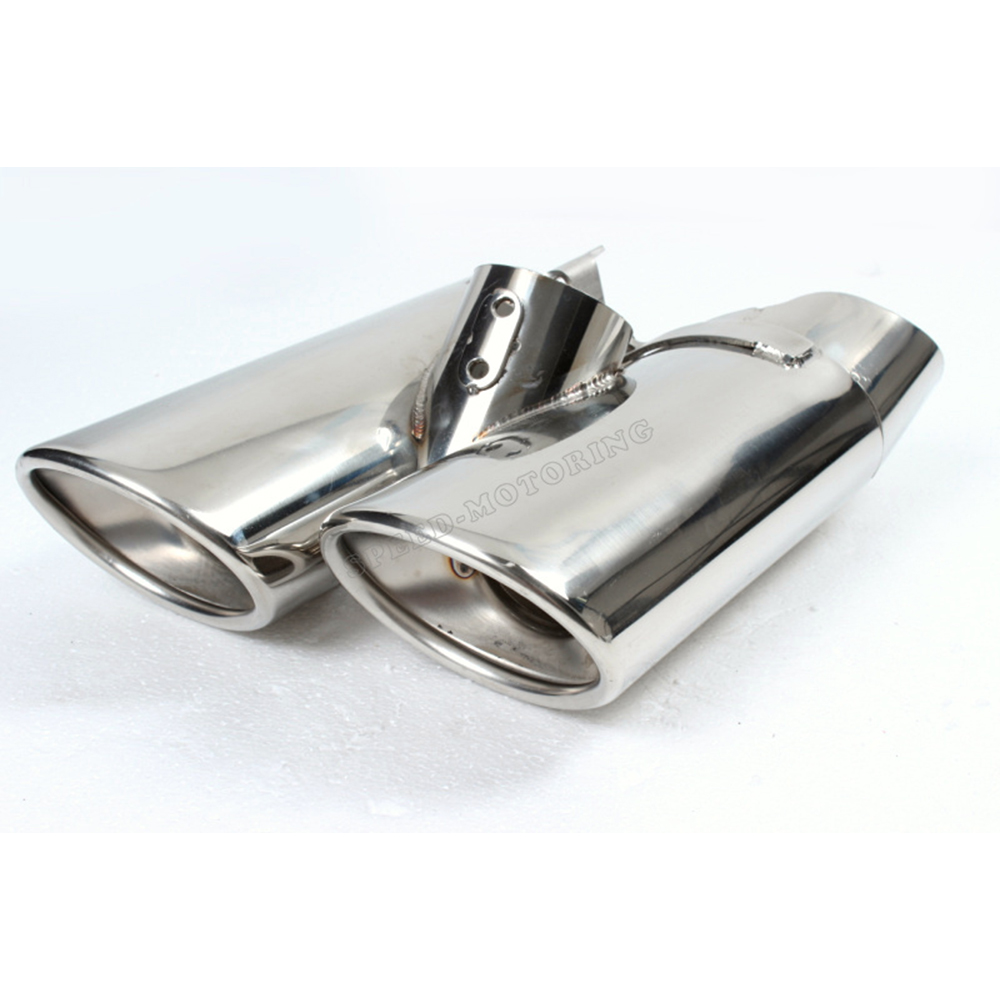 S class Statinless Steel Exhaust Pipe muffler tips for  Mercedes Benz W220 one pair stainless steel exhaust tip auto car muffler end tips fit for mercedes benz w220 s500 s430 01 05