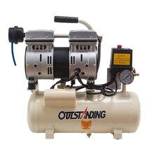 8L портативный воздушный компрессор 0.7MPa Маленький насос пневматический цилиндр воздушный насос безмасляный компрессор