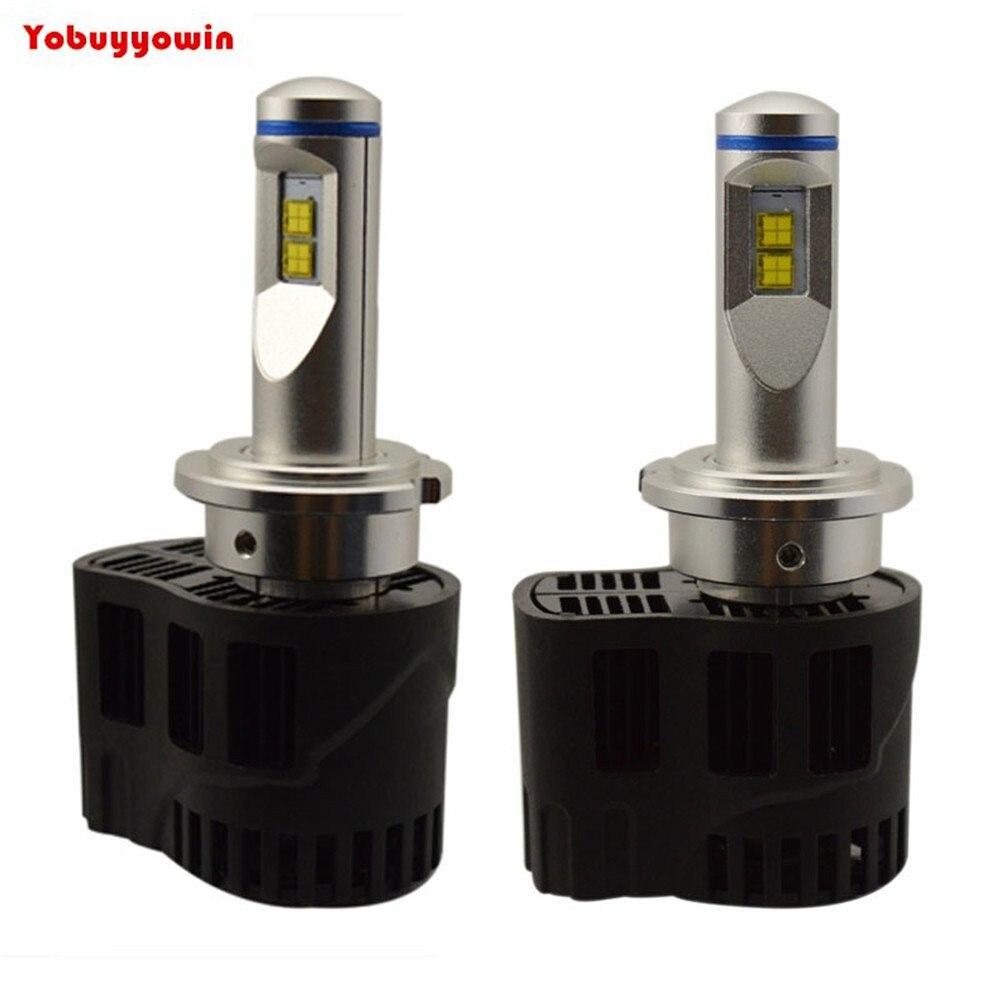 2 Pcs H7 PX26D Turbo Voiture LED Phare Conversion Kit Tous Les ampoule Sizes-110W 10400LM 4000 K MZ LED-Remplace HalogenHID Ampoules H7