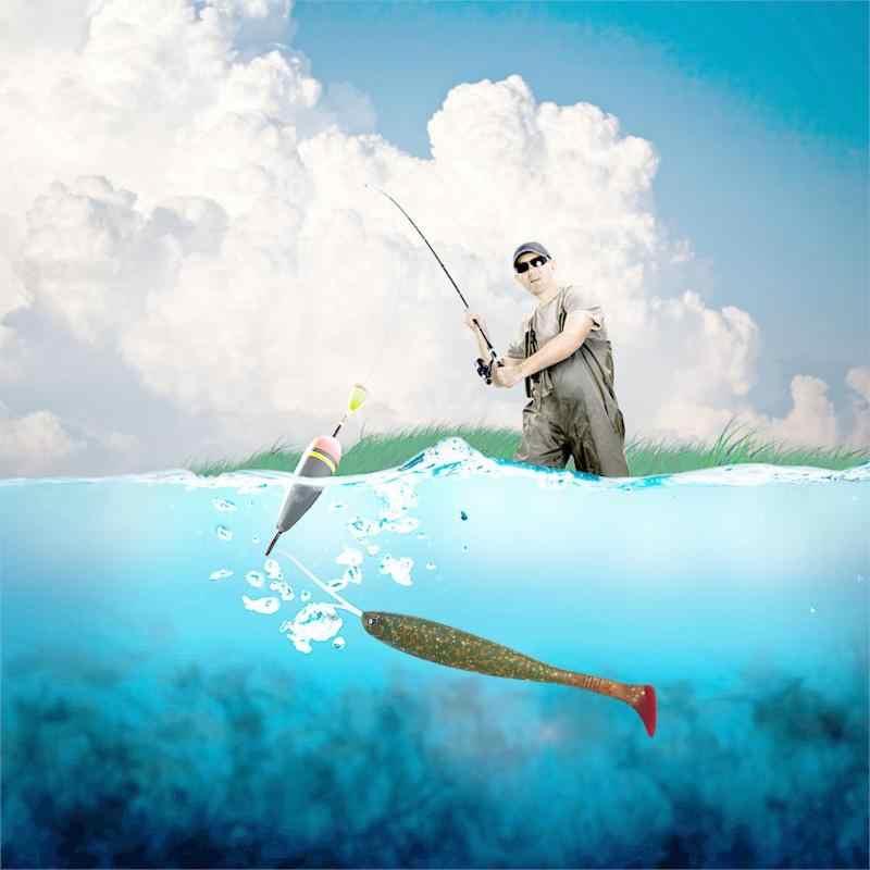 Мягкие Т-хвост рыбы приманки воблеры ПВХ искусственные рыболовные черви плавающие приманки с крюком паз рыболовные снасти аксессуары