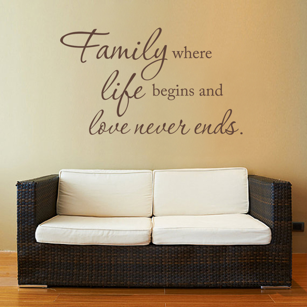 Online Get Cheap Family Vinyl Lettering Aliexpresscom Alibaba - Custom vinyl wall decals sayings for office