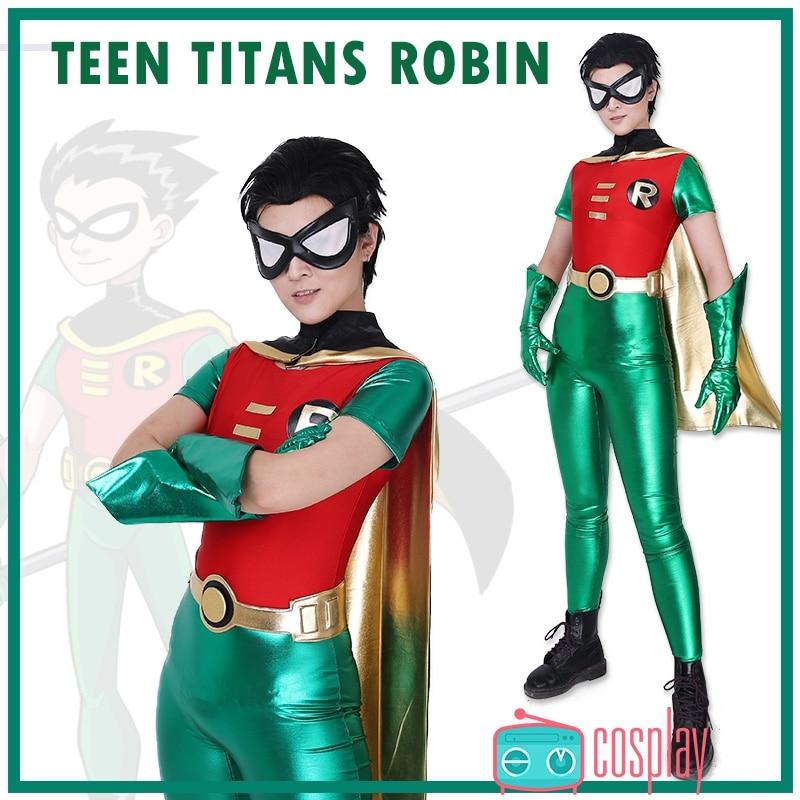 Teen Titans Robin Costume Batman Robin Superhero Cosplay Costume Justice League Adult -1585