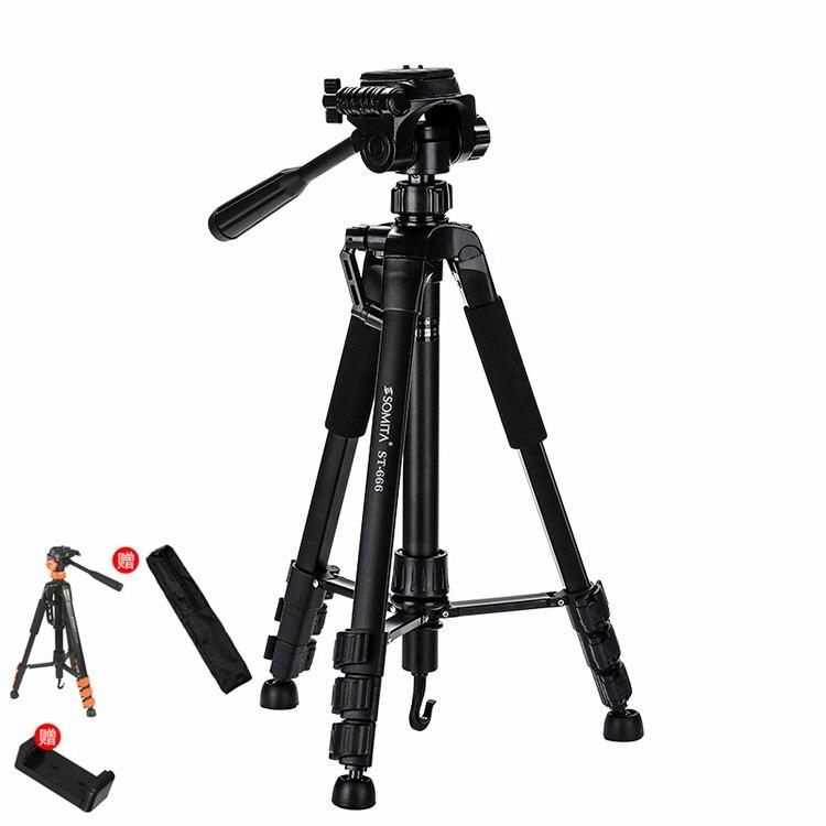 Extension de trépied vidéo en direct pour appareil photo de téléphone portable léger pour Canon Nikon Sony DSLR support de lampe pince support de tête de montage bâton de Selfie