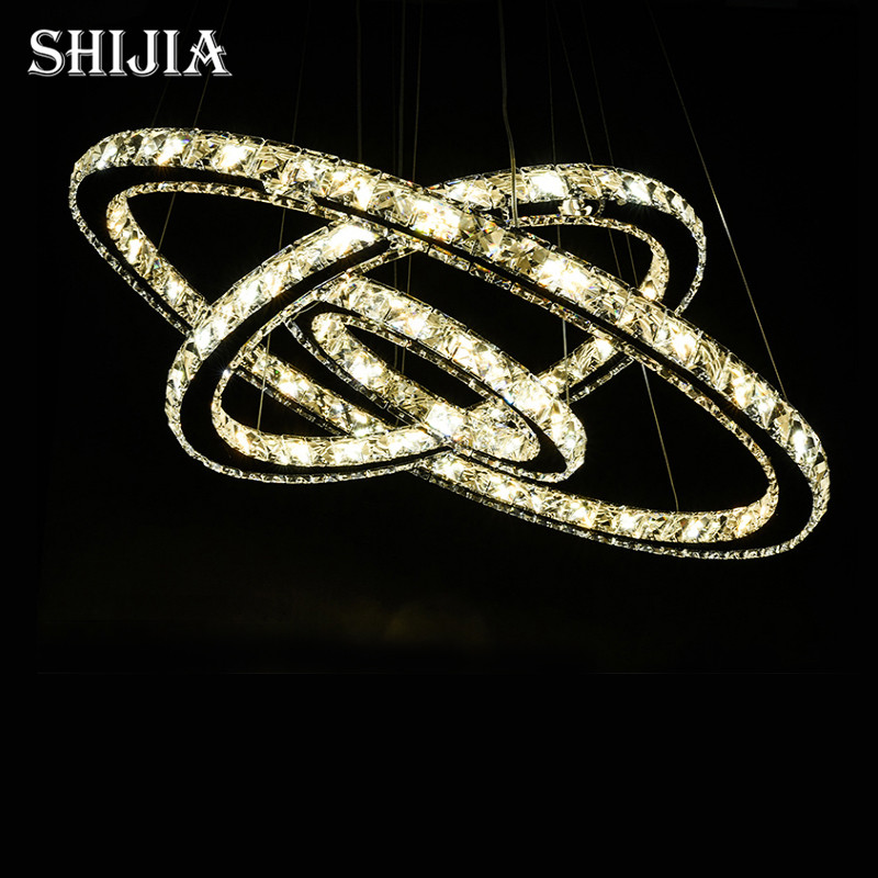 ФОТО Hot sale Diamond Ring LED Crystal Chandelier Light Modern Chandelier Circles 100% Guarantee +Free shipping