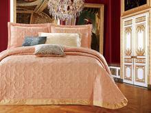 Покрывало евро-макси CRISTELLE, Queen Victoria, 240*260 см, персиковый, с наволочками