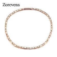Новинка 2020, длинное магнитное ожерелье zorcins для женщин, ширина 6 мм, ювелирные изделия из нержавеющей стали для здоровья