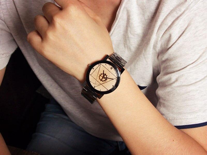 4c32215c84 Women Watch Fashion Stainless Steel Watch for Man Quartz Analog Wrist Watch  5