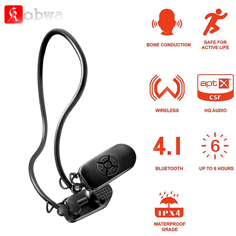 Bone Conduction Bluetooth 4.1 headphone Wireless Stereo Headset Sports Earphone open Ear Microphone Bone Conduction Headphones mix8 open ear bone conduction bluetooth v4 1 headset outdoor sports wireless bluetooth headset head mounted headphones