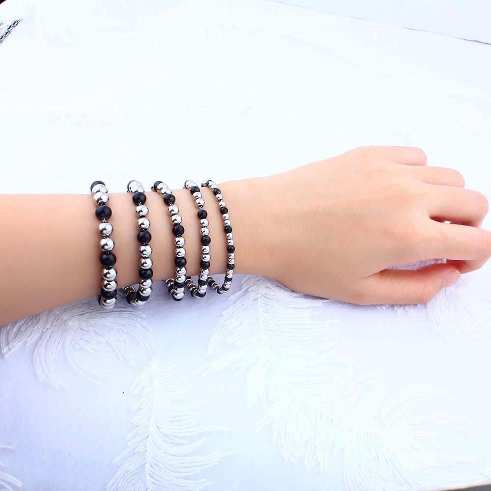 Ювелирные изделия из нержавеющей стали, шармы, бусины, браслеты, женские браслеты и браслеты, мужские популярные ювелирные изделия