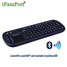 iPazzport New remote control keyboards wireless mini Bluetooth game keyboard air mouse with touchpad for Training Smart TV PC