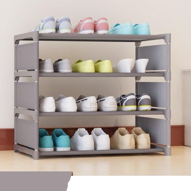 3 Tier Non Woven Shoe Cabinets Shelves Simple Living Room Home Decorations Debris Storage