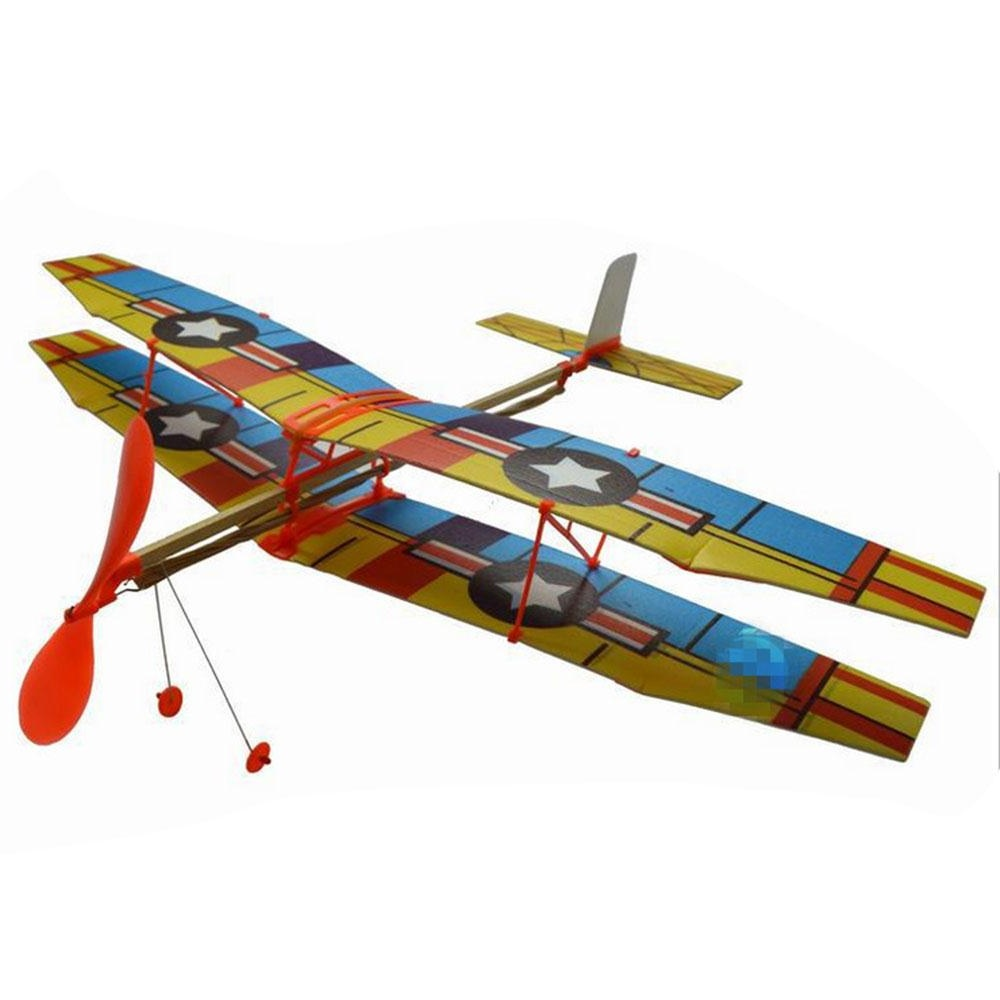 Hot Sale 1pc 50*43cm Elastic Rubber Band Powered Diy Foam Plane Model Kit Aircraft Educational Toy Toys & Hobbies