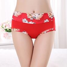 Plus Size Women Underwear Panties Ladies Seamless Sexy Briefs Floral Print Lingerie Calcinhas Intimates Underpants Ropa S-4XL