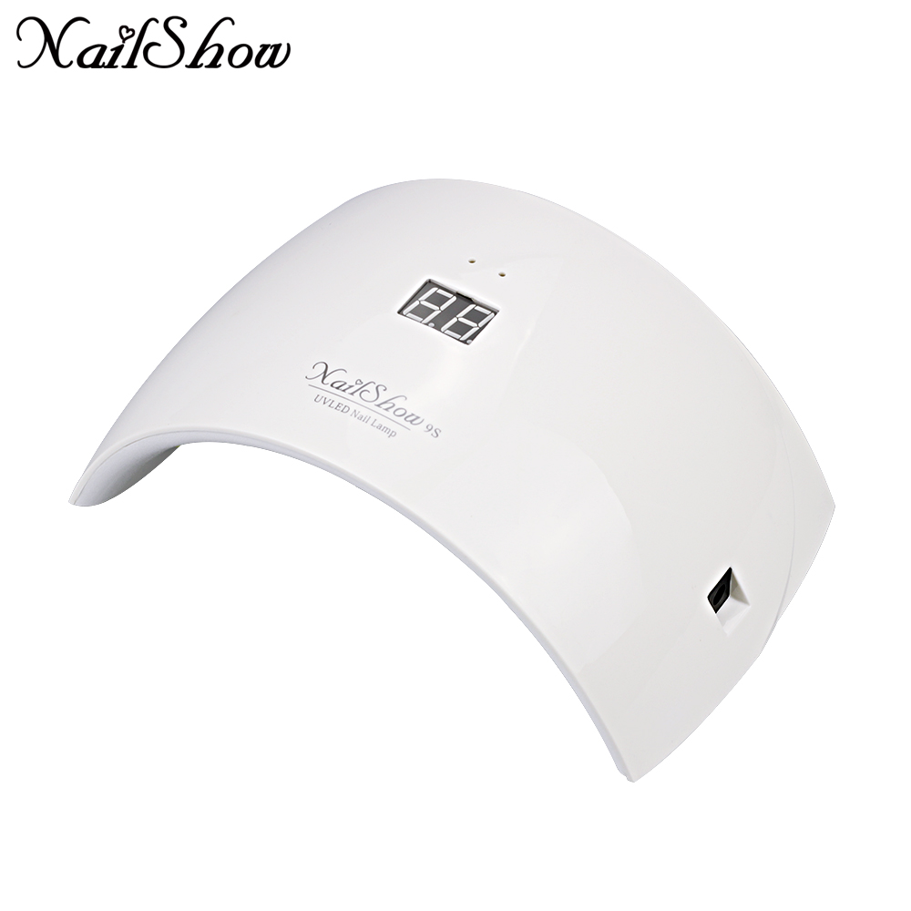 NAILSHOW 9c 9 s 24 W UV LED Nail lámpara 15 LED secador de uñas para todos los geles con 30 s /60 s botón solución de pulgar perfecto