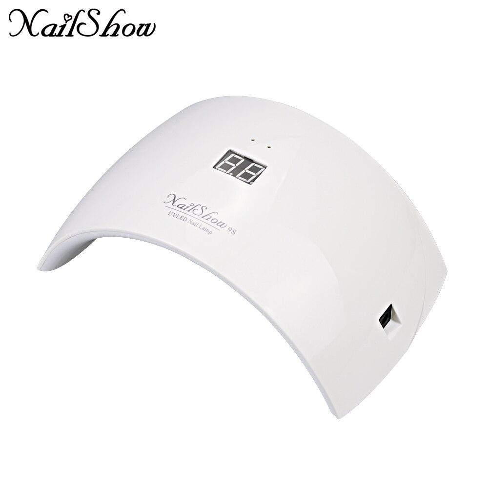 NAILSHOW 9c 9 s 24 watt UV LED Nagel lampe 15 LEDs Nagel trockner für Alle Gele mit 30 s /60 s taste Perfekte Daumen Lösung