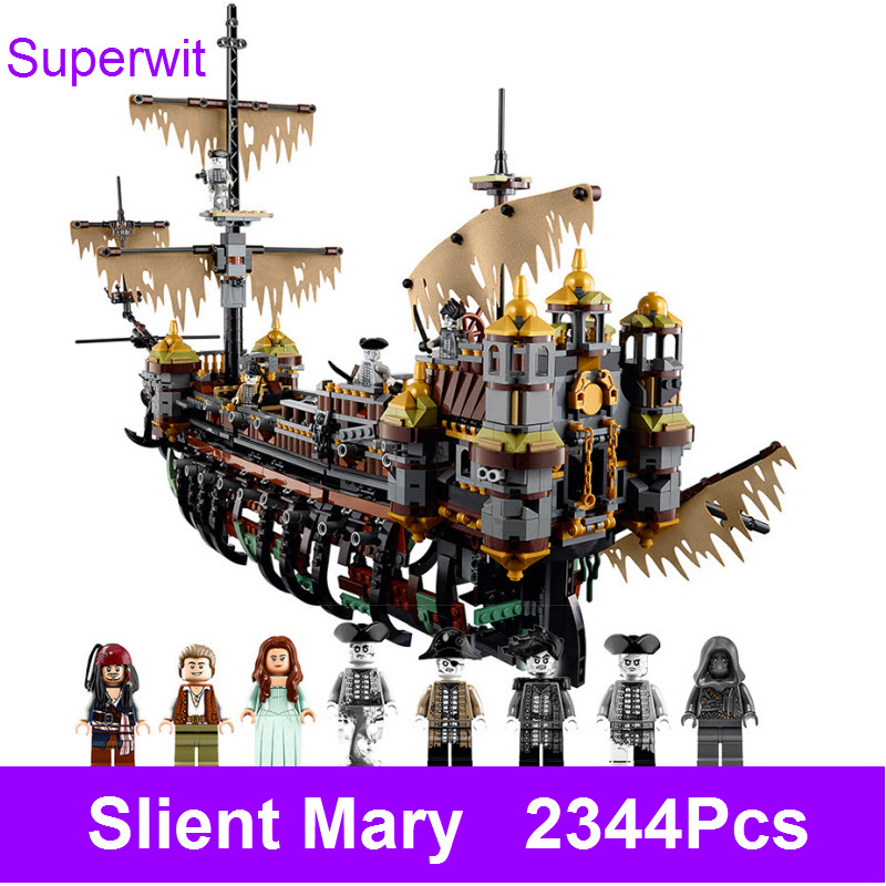 2017 Lepin 16042 2344Pcs Pirates of the Caribbean Silent Mary Building Blocks Bricks Educational Children Toy Compatible 71042 osborne mary pope magic tree house 4 pirates treasure