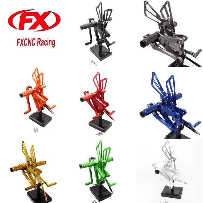 FX CNC Aluminum Motorcycle Rearset Foot Rests Peg Pedal Foot pegs Footrest Rear Sets For Honda CBR150 CBR250R CBR 2010 - 2013 l r pillion foot peg for honda c70 ct90 cb125 cb200 cg110 cg125 jx110 jx125 xl250 xl350