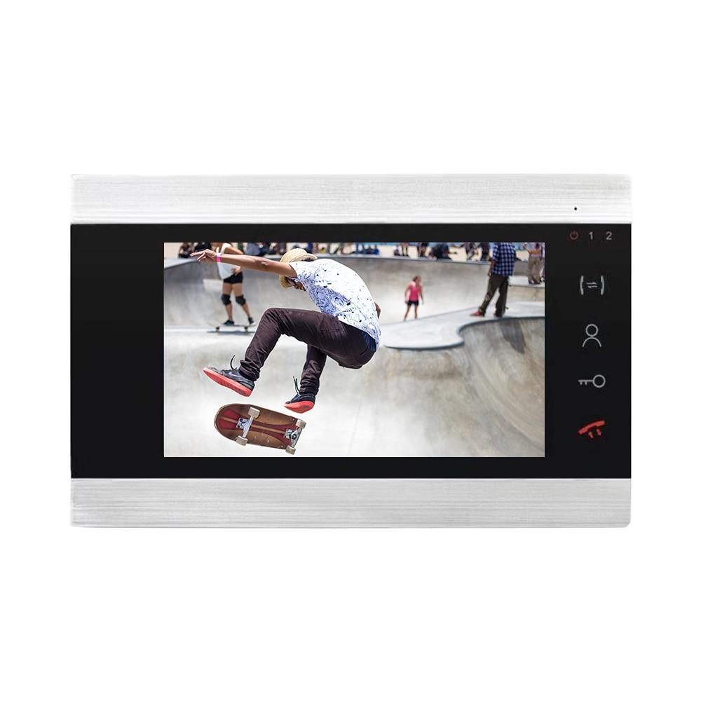 "Купить с кэшбэком Dragonsview  1200TVL 7"" Color Video Intercom Wired  Door Phone System Visual Intercom Door Entry Panel Home Security Record"