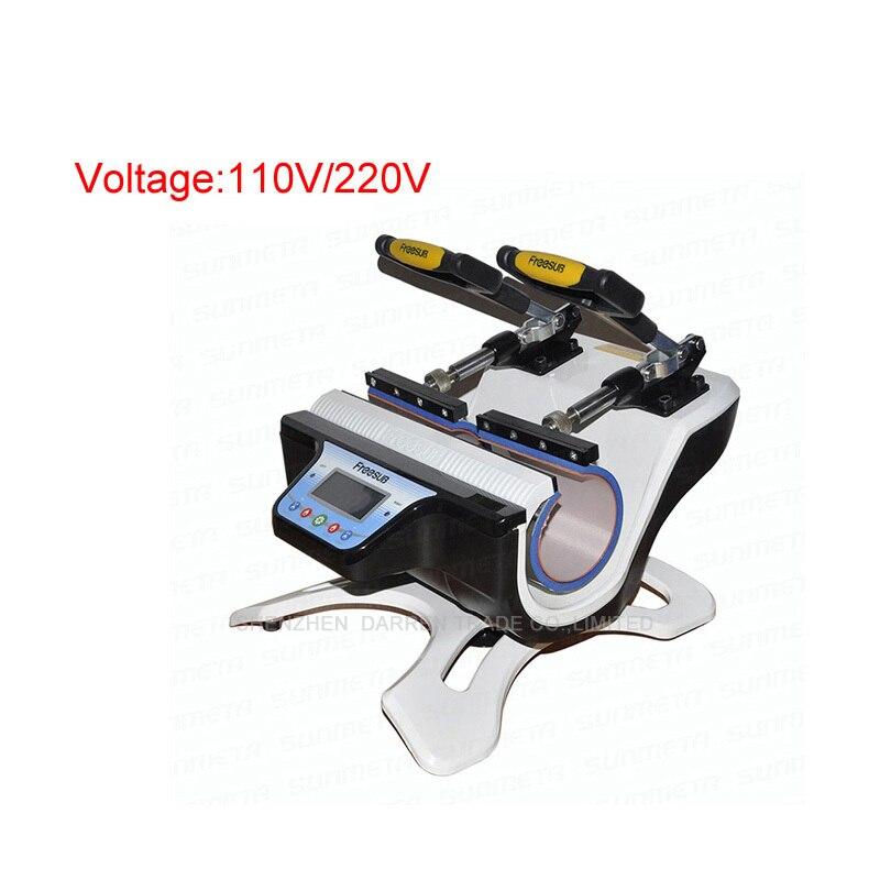 1PC ST-210 Mini Double-station Mug Press Machine Mug Heat Press Machine Mug Sublimation Transfer Machine 110/220V цена