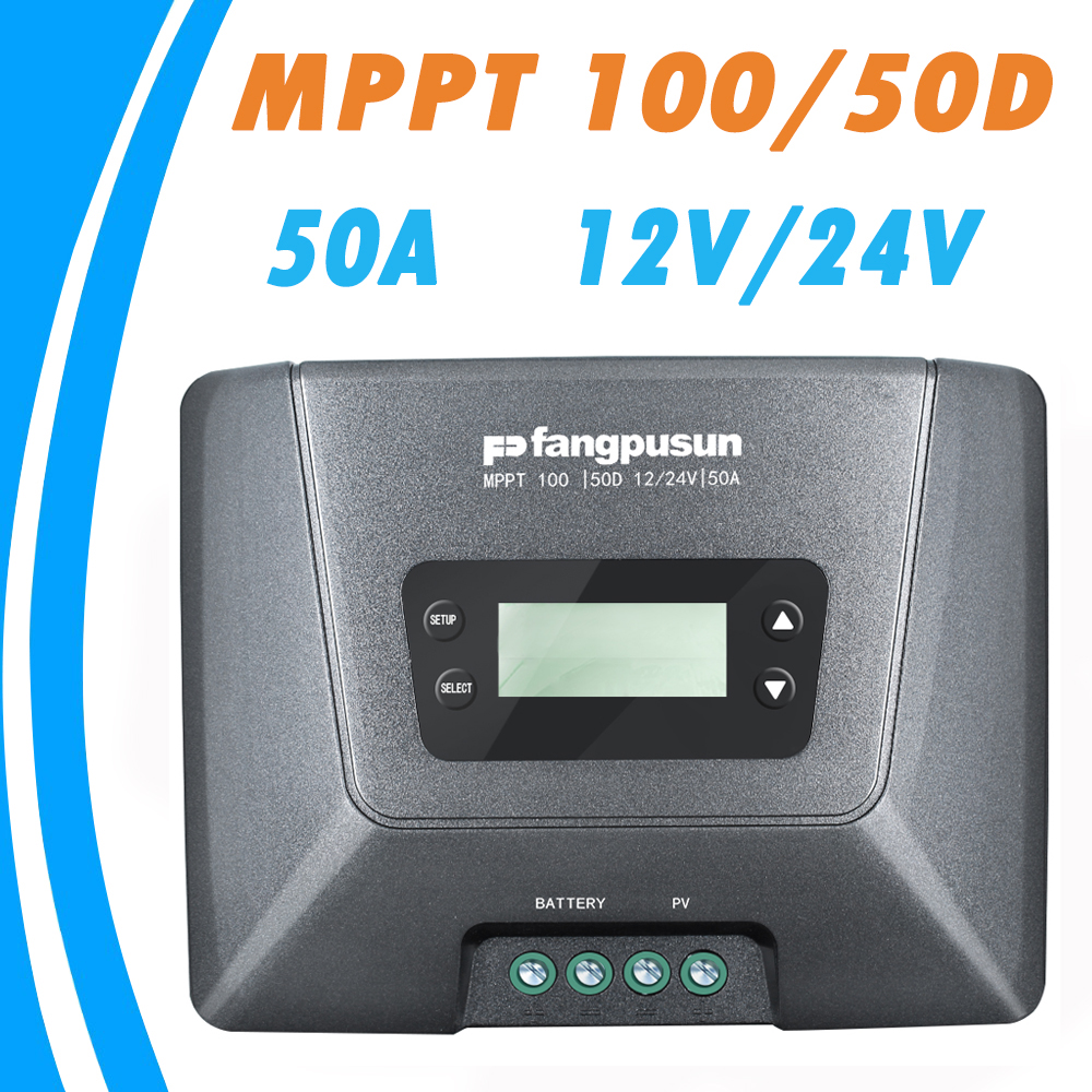 купить MPPT 100/50D Solar Charge Controller 50A 12V 24V Auto with LCD Display for Max 100V Solar Panel Input Solar Regulator Fangpusun в интернет-магазине