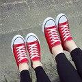 Zapatos de las mujeres Nuevo 2016 Verano Otoño Mujer zapatos de Lona transpirable zapatos Casuales de moda de corea Del color Del Caramelo de las mujeres planas con zapatos