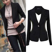 Fashion Womens Coat Slim Office Ladies Blazer Leisure New One Button Jacket Suit