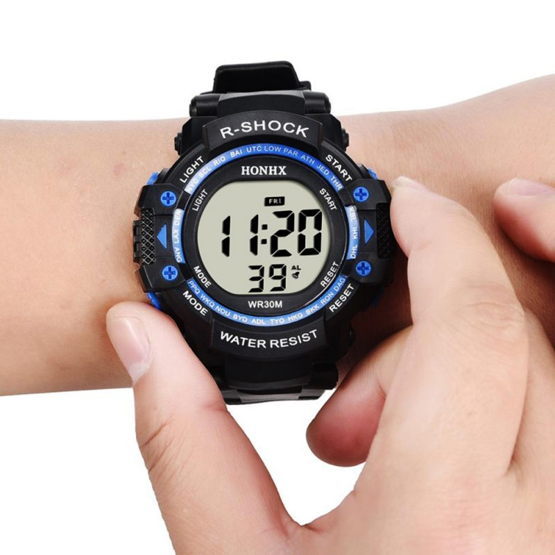 Adult Student Men's Electronic Watch Large Screen LED Sports Watch Sport Men watchs